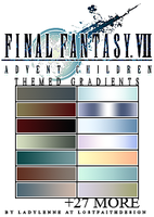 Advent Children: Gradients by tifalenne