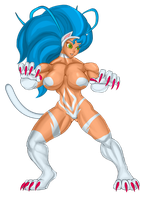 Felicia Fight Stance by DieHard300