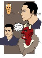 Avery and Demon Dude Colored by Timetower