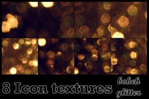 Glitter bokeh Gold by bluezircon-graphics