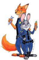 Nick and Judy by Naruto-No-Dobe