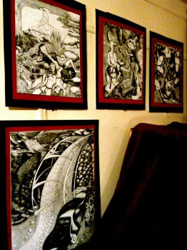 New Pen and Ink Gallery in Merton's City Studio by mertonparrish