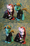 Leyna and Deroy ponies by MisterCrowbar