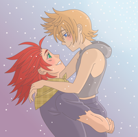 Roxas and Lea by Teddybear-93