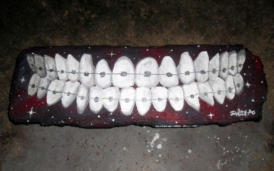 Street Art / Take care of your smile by Johnny-Aza