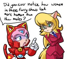 90s Cat ladies talk by rongs1234