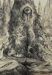 Minas Morgul drawing on paper by masiani