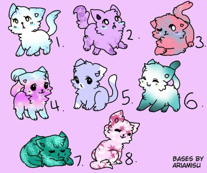 Free Cat Adoptables! (closed) by Zahnel