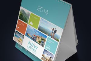 Desk Calendar Mock-Up (13cm x 10cm) by Itembridge
