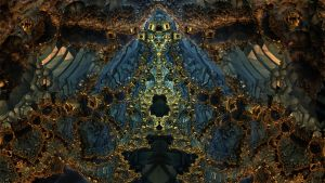 Golden Gates 3719 - Mandelbulb 3D fractal by schizo604