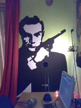 Sean Connery Wallpainting 2008 by Nimueva