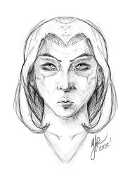 Girl Face (Speed Drawing) by MVRH