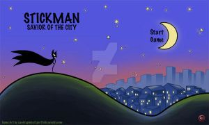 Title Screen - Stickman Savior of the City by Wundertastisch