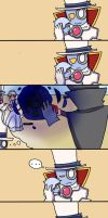 Count Bleck and Blur (Comic) by mariogamesandenemies