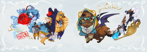 [LD] Treasure Ninjas [Flatsale, CLOSED!] by Sapphu-Adopts