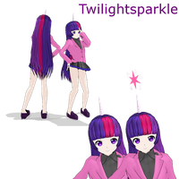 MLP twilightsparkle MMD by MoonTheBlueNeko