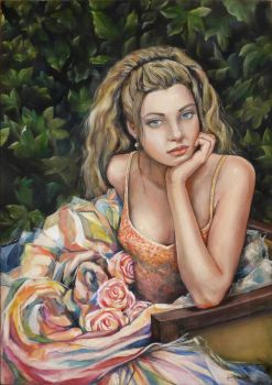 girl with roses - new version by annalobello