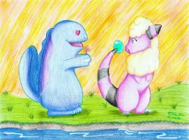 AT - Flaaffy and Quagsire