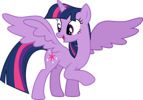 Twilight Sparkle happy by CloudyGlow