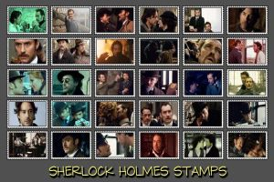Sherlock Holmes Stamps by potpourriVI