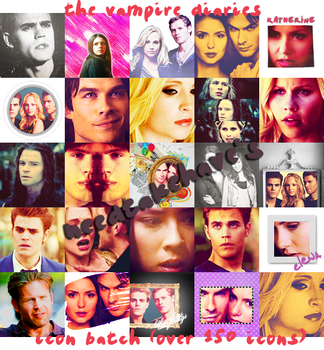 The Vampire Diaries Icon Batch #001 by needtakehave