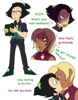 Humanized Siadot doodles by Lappystel