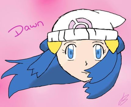 Dawn Head Perspective by Bubblem1st