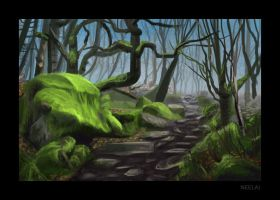 Forest path study by Neelai