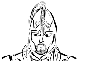 Eomer Sketch by SansaClegane