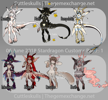 Completed Customs Pt 2 by CuttleSkulls