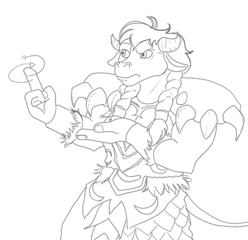 (WIP) Tauren Druid with a sceptical look by ShorePlain