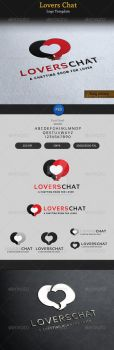 Lover-chat-romantic-logo-preview by ExtremeLogo