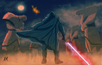 The Jedi Escapes by DarkSunProductions
