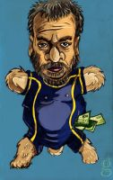 Luc Besson caricature by gilderic