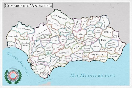 Republic of Andalusia, regional division by SalesWorlds