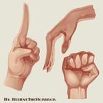 Hand Poses by BelieveTheHorror