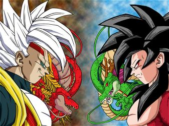 Goku Super Saiyan 4 Vs Baby Vegeta By Talbeast On DeviantArt