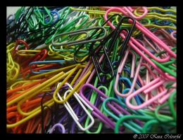 Colourful Paper Clips_3 by Judee
