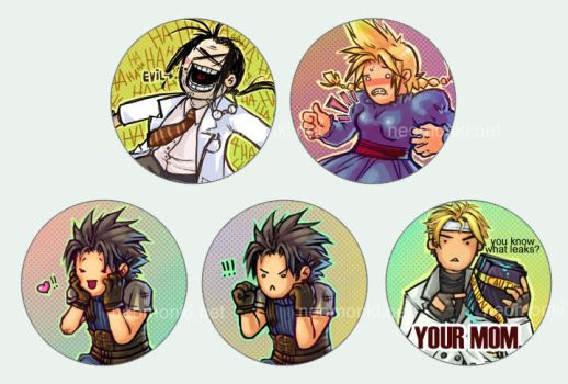NEW FF7 buttons by neomonki