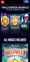 Halloween flyer template bundle by doghead