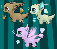 Chibi dragon adopts - CLOSED by IvonChee