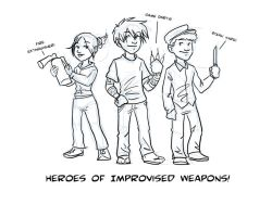 Improv Weapons by Squeakyrat