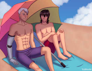 Shiro and Keith at the beach by YuiHoshi