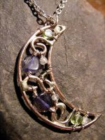 Iolite, Peridot and Moonstone by MoonLitCreations