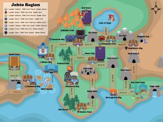 Map of Johto by Reecie