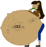 What if Emily can have multilple belly expansion by Angry-Signs