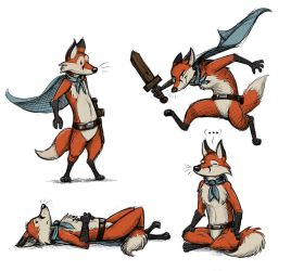 Storybook Fox (Character Design) by Temiree