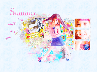 collage summer by queen198