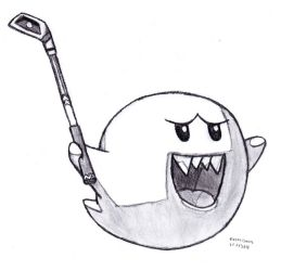 Boo With Golf Club by DrChrisman