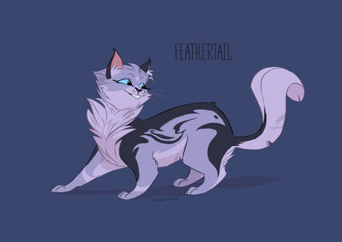 Warriors Feathertail Character Design by eighthSun